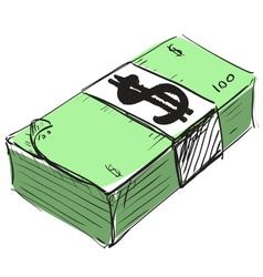 Dollar cash money icon vector image vector image