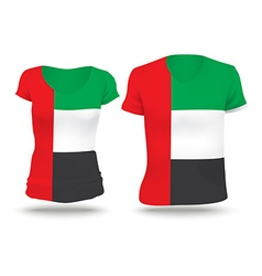 Flag shirt design of United Arab Emirates vector image