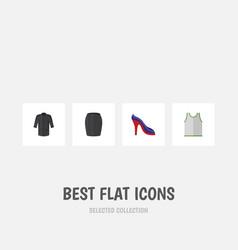flat icon dress set of heeled shoe uniform vector image vector image