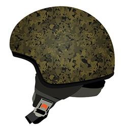 Green military helmet vector image