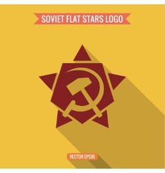 Logo star hammer and sickle flat style vector image vector image