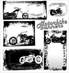 motor bike grunge banners vector image vector image