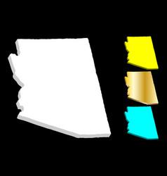 3d map arizona vector