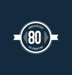 80 years anniversary celebrations retro circle vector