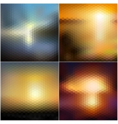 Abstract blurred backgrounds set abstract vector image