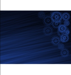 abstract dark blue background with gears vector image
