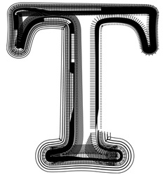 abstract font letter T vector image