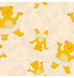 baby floral pattern vector image