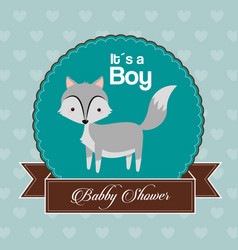 baby shower card invitation its a boy celebration vector image