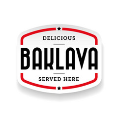 baklava middle eastern cuisine vector image