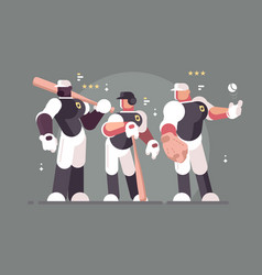 baseball team of players vector image
