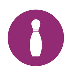 Bowling pin sport vector