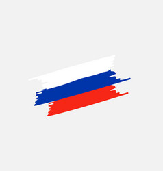 brush russia flag vector image