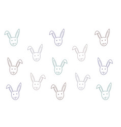 bunny background happy easter texture vector image