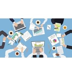 Business management teamwork discuss meeting vector
