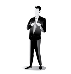 businessman black icon vector image