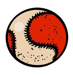 cartoon image of baseball ball vector image