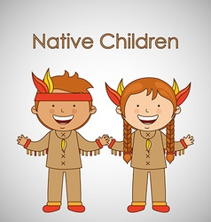 children of the worlddesign vector image