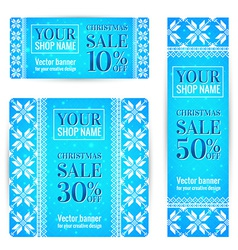 Christmas Sale Banners Set vector image