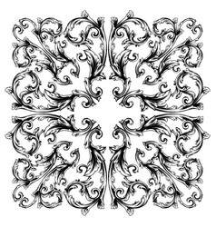 Classical baroque vintage element for vector
