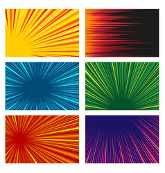 Comic book line speed motion background set vector