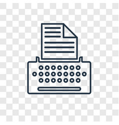 copywriter concept linear icon isolated on vector image