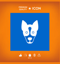 Dog - logo symbol protect sign vector