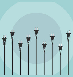 electric plugs flat design concept vector image
