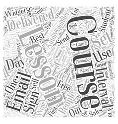 Email courses and autoresponders word cloud vector