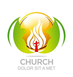 Fire rescue church christ savior religion vector