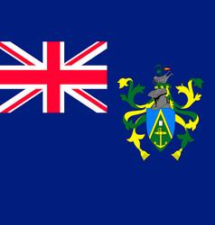 flag pitcairn islands flat style vector image