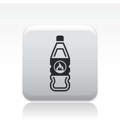 flammable bottle icon vector image vector image