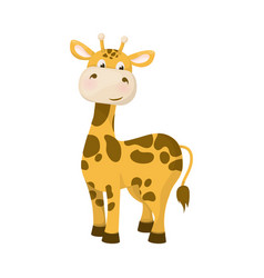 Giraffe animal nature wildlife character with long vector