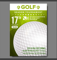 golf poster sport event announcement vector image