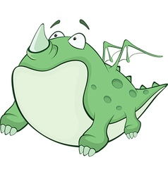 Green Dragon Cartoon Character vector image