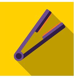 Hair straightener flat icon vector