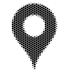 halftone dot map pointer icon vector image