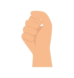 hand clenched fingers gesture vector image