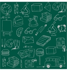 Hand draw school education doodles vector image