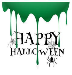 happy halloween spider web zombie blood background vector image