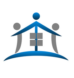 house figure abstract real estate icon vector image