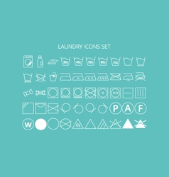 icons laundry set vector image