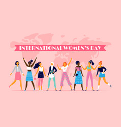 international womens day celebrating eight march vector image