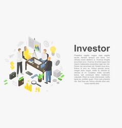Investor concept banner isometric style vector