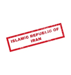 Islamic republic of iran rubber stamp vector