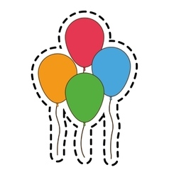 Isolated balloons of birthday design vector