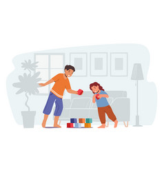 kids playing spare time little boy and girl play vector image