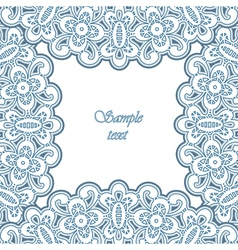 Lacy frame vector image vector image