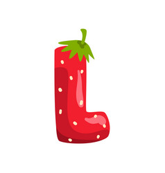 Letter l of english alphabet made from ripe fresh vector