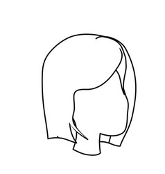 Line beauty woman face with hairstyle vector